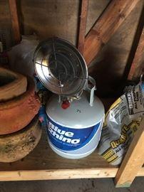 A Blue Rhino portable heater.