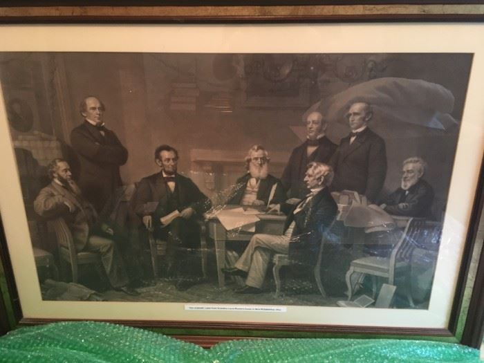 I love this piece -- Lincoln and his cabinet!
