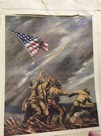Raising the flag -- bless you boys!