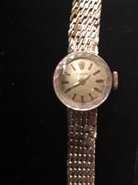 Ladies 14k gold Rolex watch