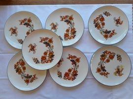 "Set of 7 Vintage JK Bavaria butterfly plates 7 3/4"" made in Western Germany https://ctbids.com/#!/description/share/133126"