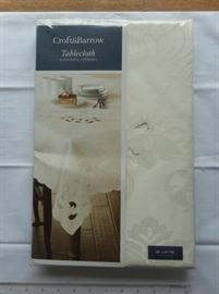 Croft & Barrow oblong tablecloth w/Alexandra cutwork https://ctbids.com/#!/description/share/132425