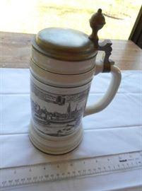 "Vintage Altenkunstadt - 50 - German 1647 large beer stein w/pewter top 10"" https://ctbids.com/#!/description/share/132630"