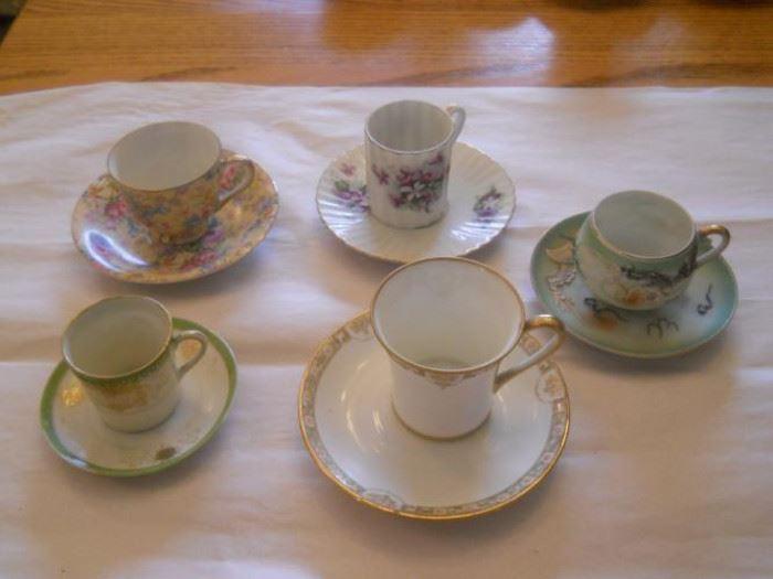 Lot of 5 sets of Vintage Asian demitasse cups and saucers   https://ctbids.com/#!/description/share/132440