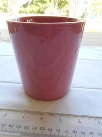 """Haeger pink planter 4 3/4"""" tall https://ctbids.com/#!/description/share/132639"""