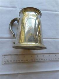 Vintage Leonard Eales of Sheffeild tankard - England -pewter w/glass bottom https://ctbids.com/#!/description/share/132641