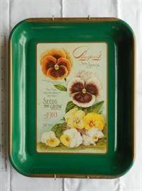 Vintage Burpee seed tin tray w/wall hanger https://ctbids.com/#!/description/share/132455