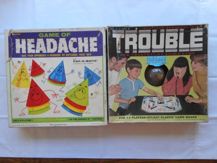 Set of 2 Vintage Games - Trouble and Headache 60'/70's https://ctbids.com/#!/description/share/133146