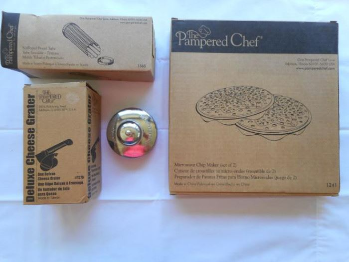 Lot of 4 Pampered Chef Items - 3 new 1 used https://ctbids.com/#!/description/share/133148