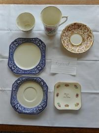 Vintage 6 Pc.English dishes - Aynsley, Royal Stuart, Victoria, Huighes & Son and Adderley https://ctbids.com/#!/description/share/132678