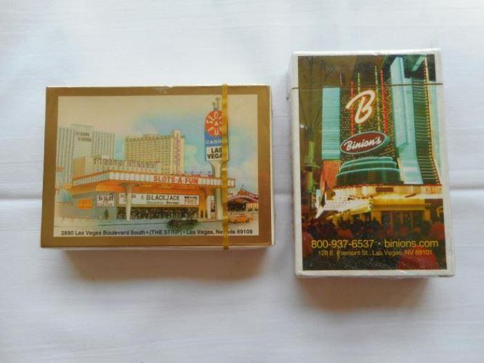 "2 new sealed vintage Las Vegas card decks - ""Slots A Fun"" & ""Binions"" casinos https://ctbids.com/#!/description/share/132925"