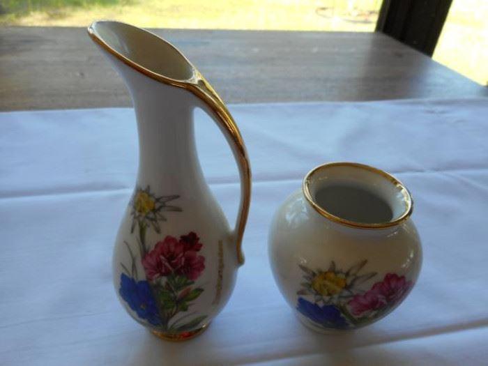 "ALB.Schieche.OHG 2 pc. small vase set 5 1/4"" tallest pc https://ctbids.com/#!/description/share/133155"