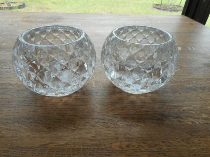 Shannon crystal set of 2 votive candle holders - very thick  https://ctbids.com/#!/description/share/132517