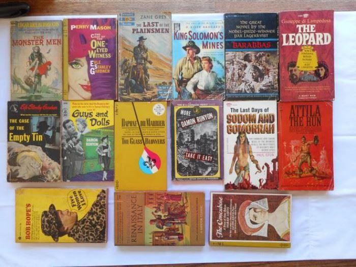 Lot of 15 Vintage paperback book 40's, 50's and 60's   https://ctbids.com/#!/description/share/133156