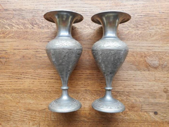 Vintage TAM silver nickel vases made in India https://ctbids.com/#!/description/share/132524