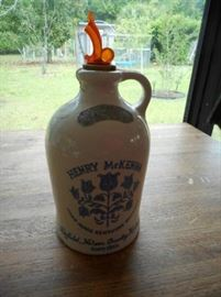 "12"" Vintage 1/2 Gallon Henry McKenna whiskey jug https://ctbids.com/#!/description/share/132526"