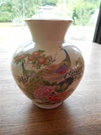 "Vintage Made in Japan 6.5"" vase w/peacock design https://ctbids.com/#!/description/share/132529"