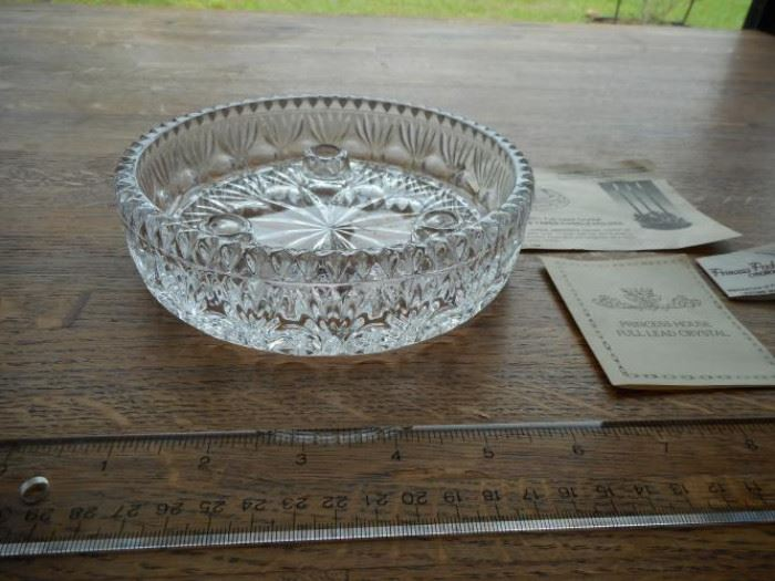 vintage Fostoria Princess House 3 lite lead crystal taper candle holder https://ctbids.com/#!/description/share/132530