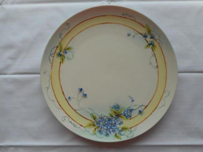 "vintage Handpainted 9"" Japanese plate - Nippon mark https://ctbids.com/#!/description/share/133020"