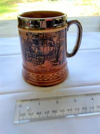 """Vintage Lord Nelson Pottery Stein """"Coaching Days"""" MAde in England 4"""" tall https://ctbids.com/#!/description/share/132536"""