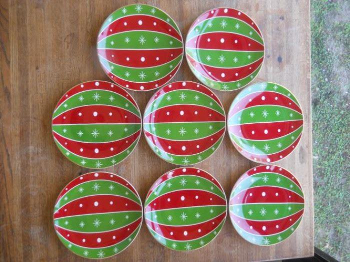 Set of 8 Kate Spade Spruce Street Lenox ornament plates https://ctbids.com/#!/description/share/132535