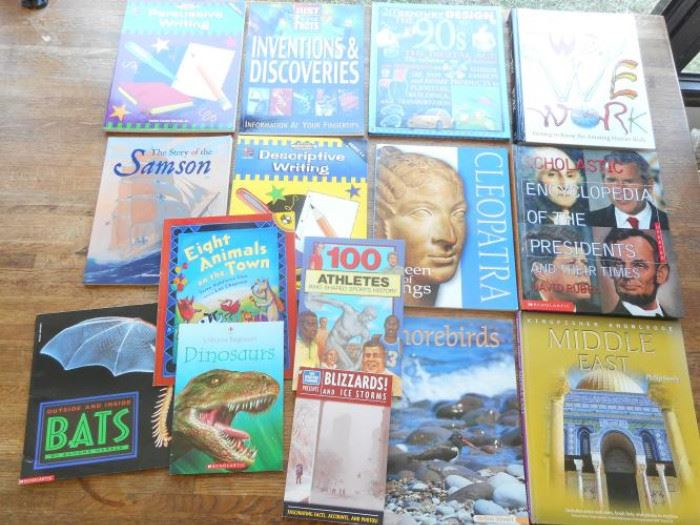 Lot of 15 various early to middle school age books - Kingfisher, Scholastic and DK https://ctbids.com/#!/description/share/133029