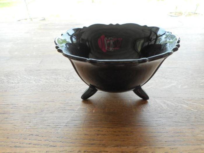 Vintage Art Deco black glass bowl from 1920's/1930's https://ctbids.com/#!/description/share/132546