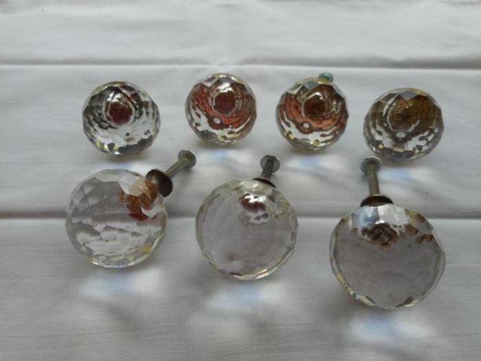Lot of 7 vintage glass ball drawer pulls https://ctbids.com/#!/description/share/133050