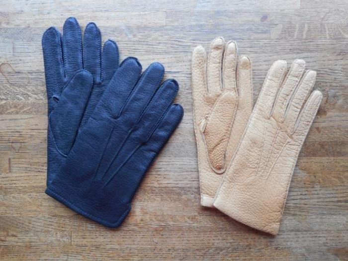 Lot of 2 pair vintage leather gloves-Marshall Fields & Fownes https://ctbids.com/#!/description/share/132549
