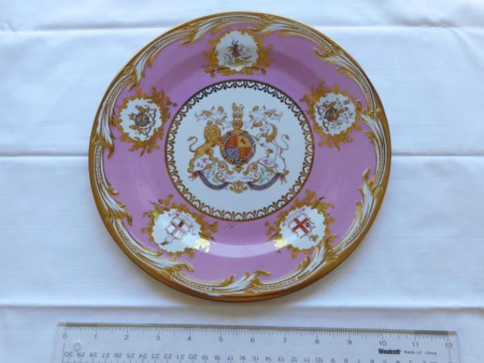 "Vintage Commemorative Plates form the Royal Collection ""The Great Exhibition"" metal plate https://ctbids.com/#!/description/share/132552"