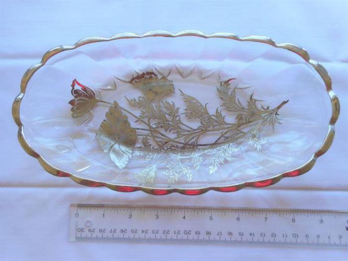 "Vintage Silver Embossed flower design bowl 10 1/2 x 5 3/4"" https://ctbids.com/#!/description/share/133101"