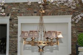 1. Gothic Style Wrought Iron Chandelier