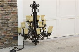 6. Monumental Wrought Iron Chandelier