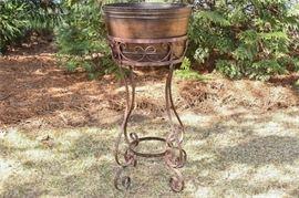 8. Wrought Iron Jardiniere