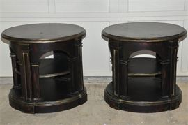 11. Pair of Tuscan Styled Drum Tables