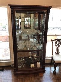 Tons of Waterford crystal! *Please Note: Curio cabinet is NOT for sale.*