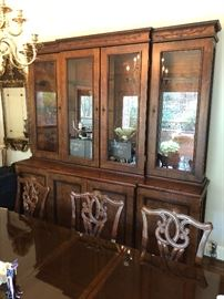 Truly grand breakfront display case, one of a kind find! In excellent condition!