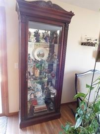 china cabinet, figurines not for sale