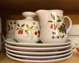 "Noritake Progressions china, ""Berries'n Such"" pattern."