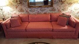Mid century sofa with pillows