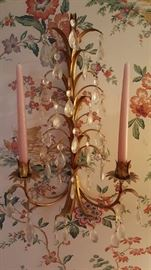 Two wall candle holders