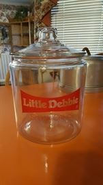 Little Debbie jar with lid