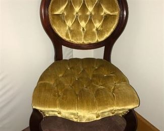 Victorian-style parlor chair, made by Kimball Furniture, Montgomery, AL in the 1950s. Kimball later became Jasper Furniture Co.