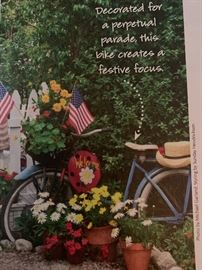 Use one of our Bikes in your Garden as a fun Focal Point!