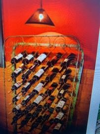 We have an Old Bed Spring to make this cool Wine Rack