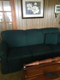 Hunter Green Sofa - Beautiful condition. Barely used.