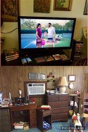 TV, SEWING MACHINE, DRESSER