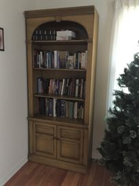 There are two of these solid wood bookcases. Perfect milk paint project!