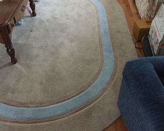 Oval rug — approximately 6x5.