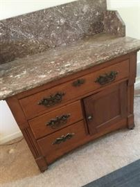 Antique Cabinet with Marble Top